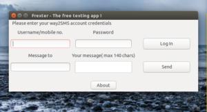 Frexter – Cross-platform Free SMS sending app